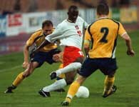 Strzelec dwóch bramek - Emmanuel Olisadebe