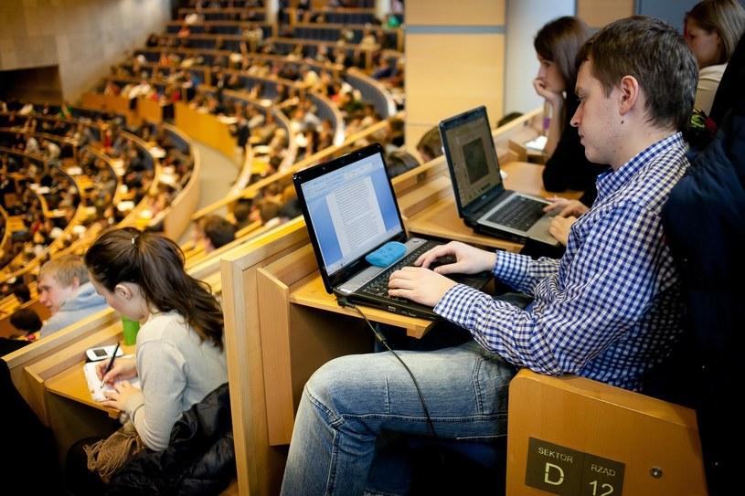 Studenci w Audytorium Maximum Uniwersytetu Jagiellońskiego, zdjęcie ilustracyjne /Szymon Blik /Reporter