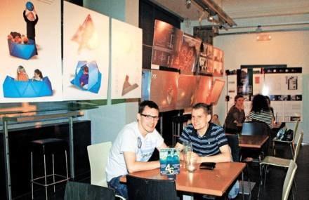 Studenci z Katowic, wybrali Archibar ze względu na wystrój / Fot. Joanna Nowicka /EchoMiasta_Katowice