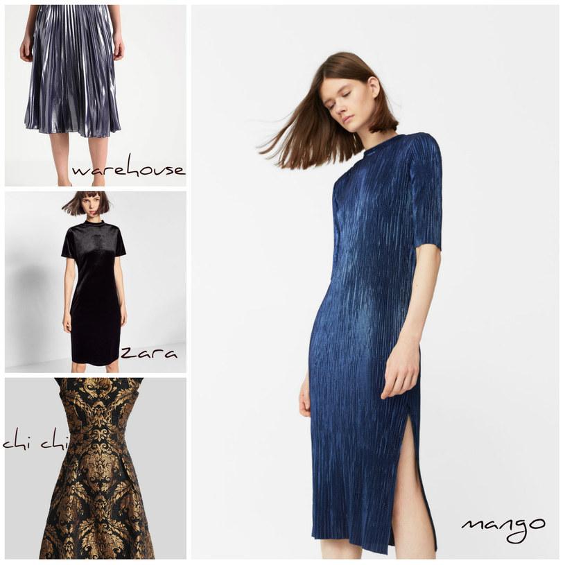 Sukienki do nabycia na stronach Mango, Zalando i Zara /Printscreen Zalando, Mango, Zara /materiały prasowe