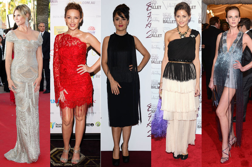 Sukienki z frędzlami /Getty Images/Flash Press Media