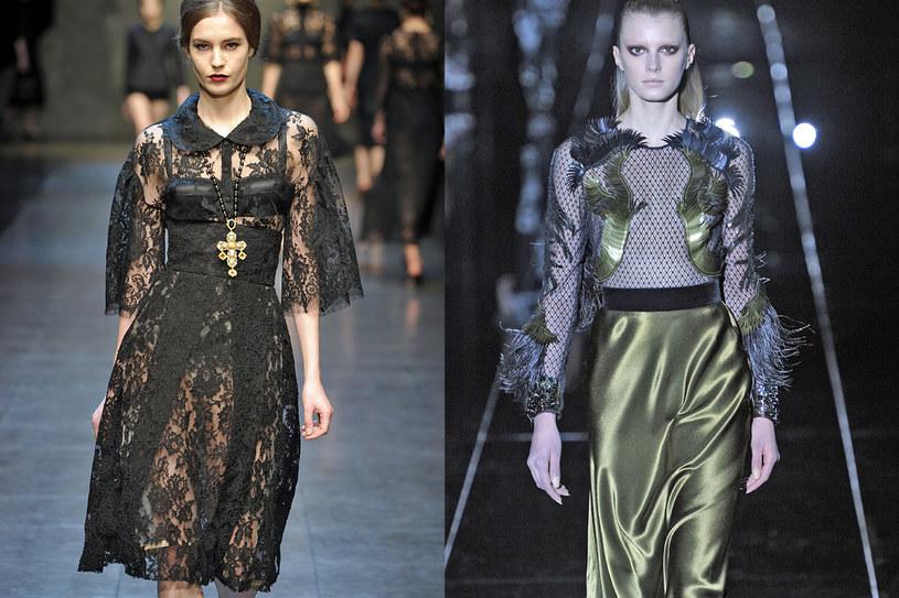 Suknie Gucci oraz Dolce and Gabbana na sezon jesień-zima 13/14 /East News/ Zeppelin