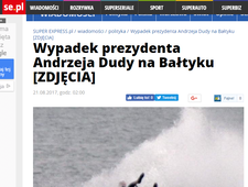 """Super Express"": Skuter nie posłuchał prezydenta"