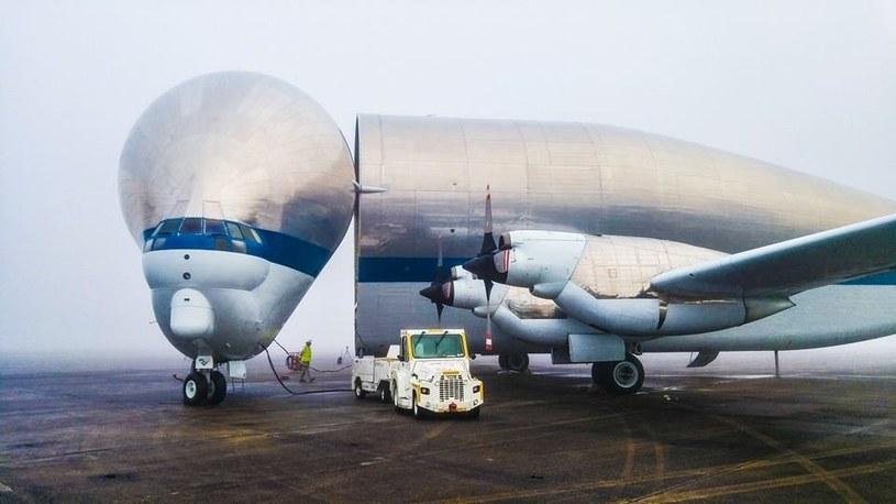 Super Guppy wykorzystany przez NASA prezentuje się naprawdę nietypowo /NASA