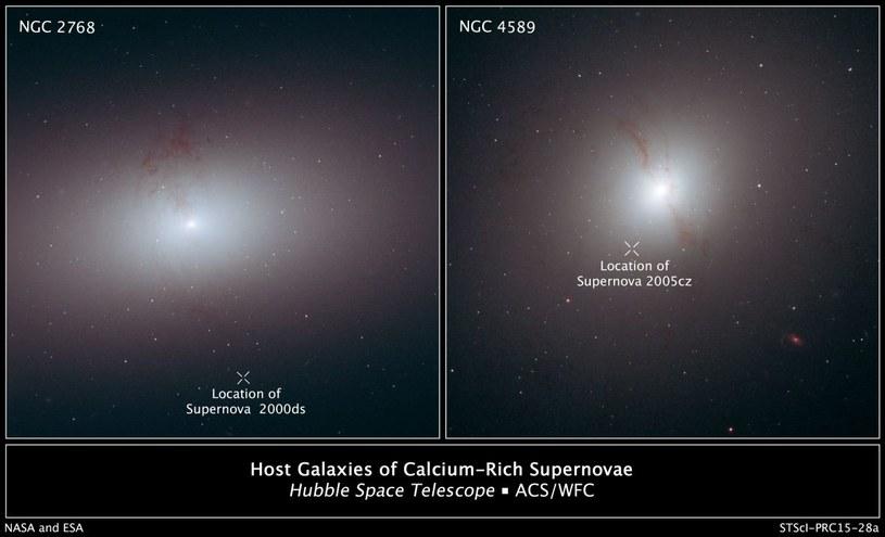 Supernowe poza swoimi macierzystymi galaktykami uchwycone przez teleskop Hubble'a /NASA