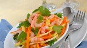 Surówka warzywna z krewetkami