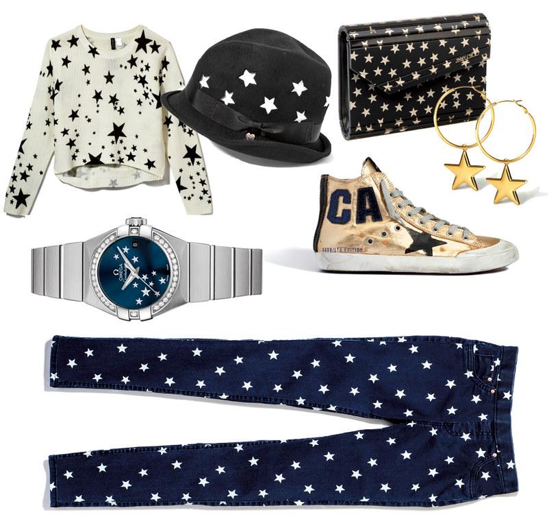 Sweter i spodnie H&M | kapelusz Armani | kopertówka Jimmy Choo | kolczyki Anna Kuczyńska for Yes | zegarek Omega Constelation | tenisówki  Golden Goos /Twój Styl