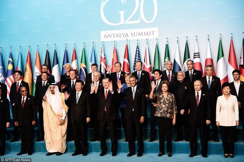 Światowy przywódcy podczas niedawnego szczytu G20 /OZAN KOSE /East News