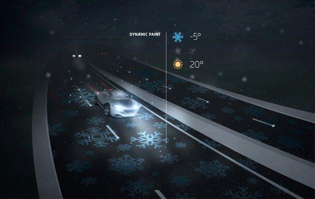 Świecąca droga może wyświetlać różne informacje /