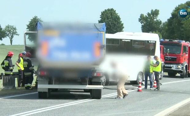 Świętokrzyskie: Wypadek autobusu z dziećmi. Pojazdem jechało 24 uczniów