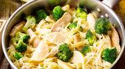 Sycące wstążki z warzywami i mięsem