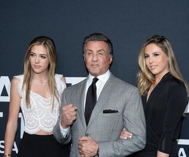 Sylvester Stallone z córkami