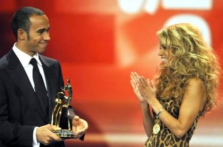 Sylvie van der i Lewis Hamilton. /ASInfo/INTERIA.PL