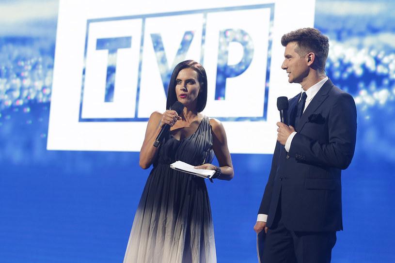 Sylwia Dekiert i Tomasz Kammel podczas prezentacji jesiennej ramówki TVP /AKPA