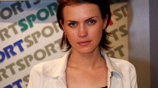 Sylwia Dekiert w początkach swej dziennikarskiej kariery - fot. Piotr Fotek /Reporter - 0004A4EHPQMY03G2-C122-F4