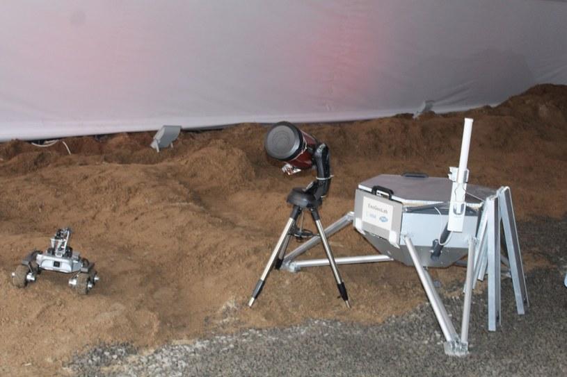 Symulowana powierzchnia Księżyca i Marsa w habitacie LUNARES /materiały prasowe