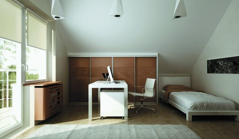 Sypialnia z kącikiem biurowym /materiały prasowe