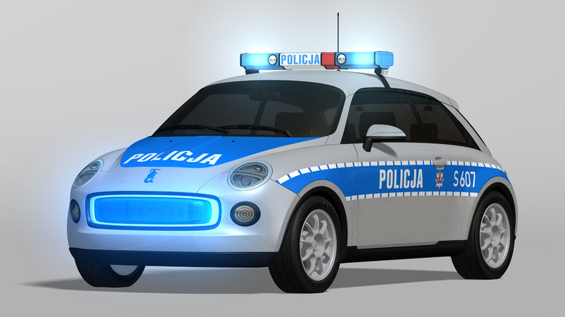 Syrena Meluzyna E3 w wersji policyjnej /