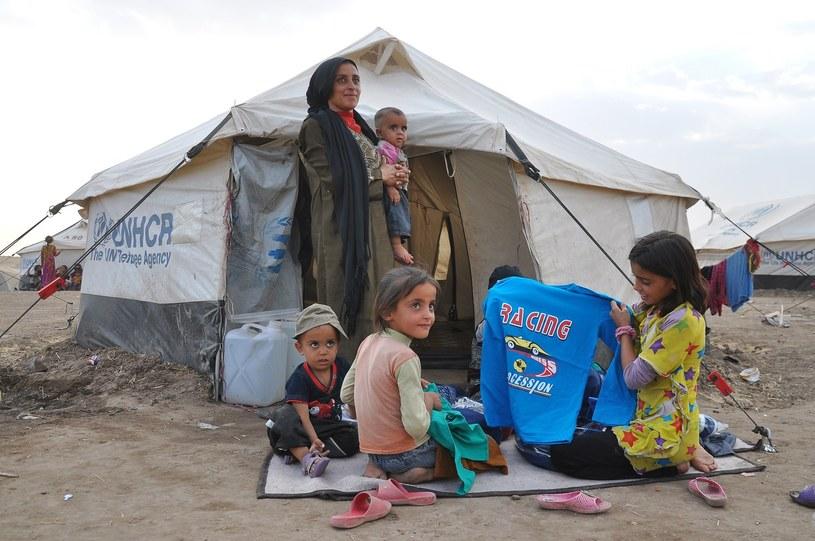 Syryjscy uchodźcy liczą na pomoc Europy /AFP