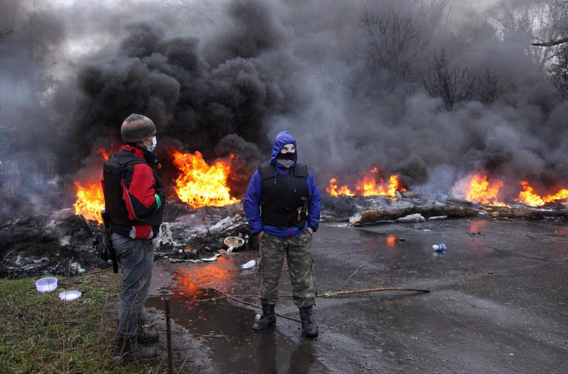 Sytaucja na wschodzie Ukrainy jest bardzo napięta /AFP