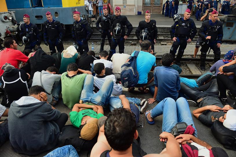 Sytuacja na dworcu kolejowym w Budapeszcie /AFP