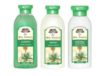 Szampon, balsam i odżywka Mrs.Potter's do włosów suchych /materiały prasowe