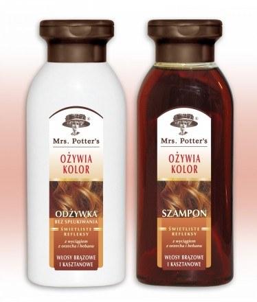 Szampon i odżywka do włosów brązowych i kasztanowych /materiały prasowe