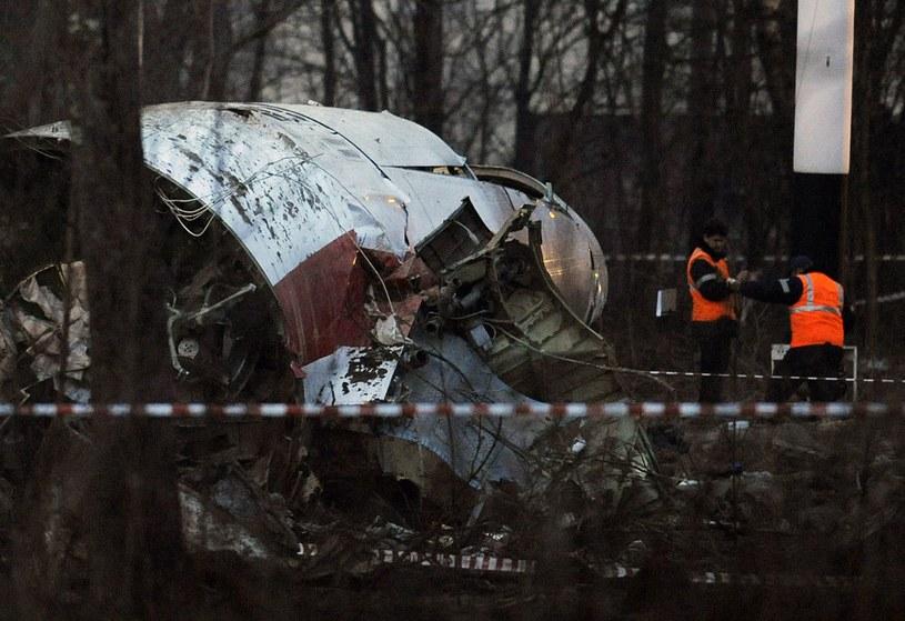 Szczątki samolotu prezydenckiego, który rozbił się w Smoleńsku /AFP