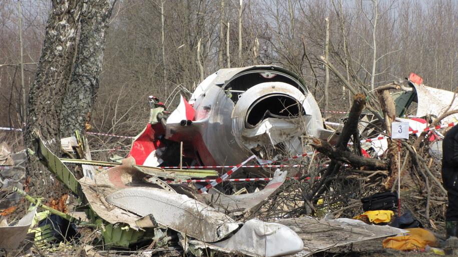 Szczątki Tu-154M pod Smoleńskiem /Mariusz PIekarski /Archiwum RMF FM