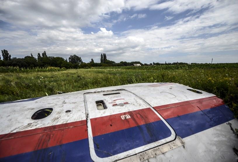 Szczątki zestrzelonego malezyjskiego samolotu. /AFP