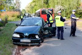 Szczecin: Wypadek autobusu. Zdjęcia z miejsca zdarzenia