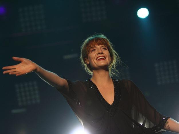 Szczęśliwa Florence Welch podczas koncertu w Krakowie /INTERIA.PL, fot. Adam Flak-Smoliński