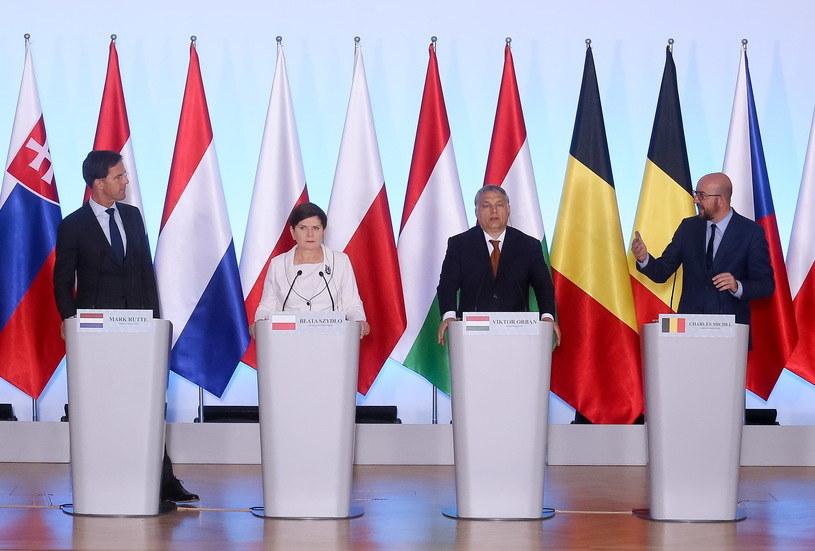 Szczyt premierów V4 i Beneluksu /Paweł Supernak /PAP