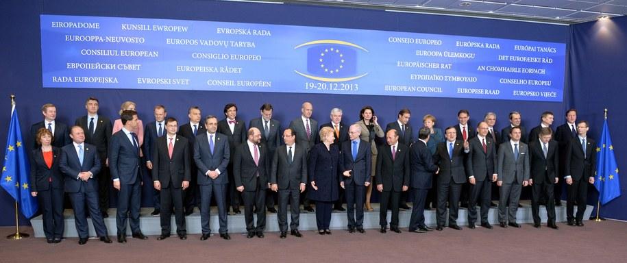 Szczyt przywódców Unii Europejskiej w Brukseli / Radek Pietruszka   /PAP