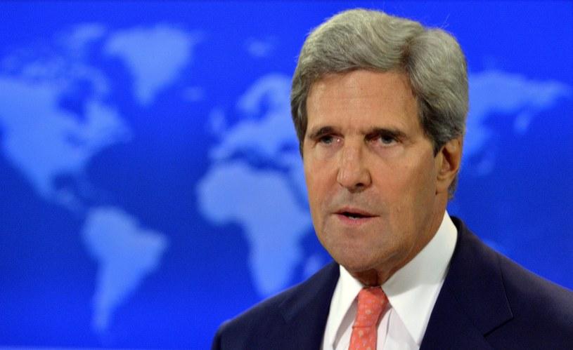 Szef amerykańskiej dyplomacji John Kerry. /AFP