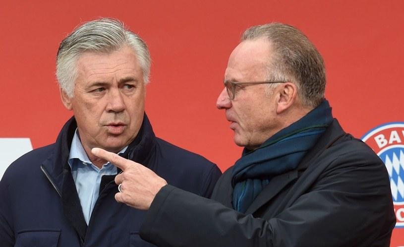 Szef Bayernu Monachium Karl-Heinz Rummenigge (z prawej) i trener Carlo Ancelotti /AFP