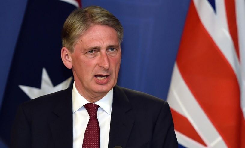 Szef brytyjskiej dyplomacji Philip Hammond /AFP