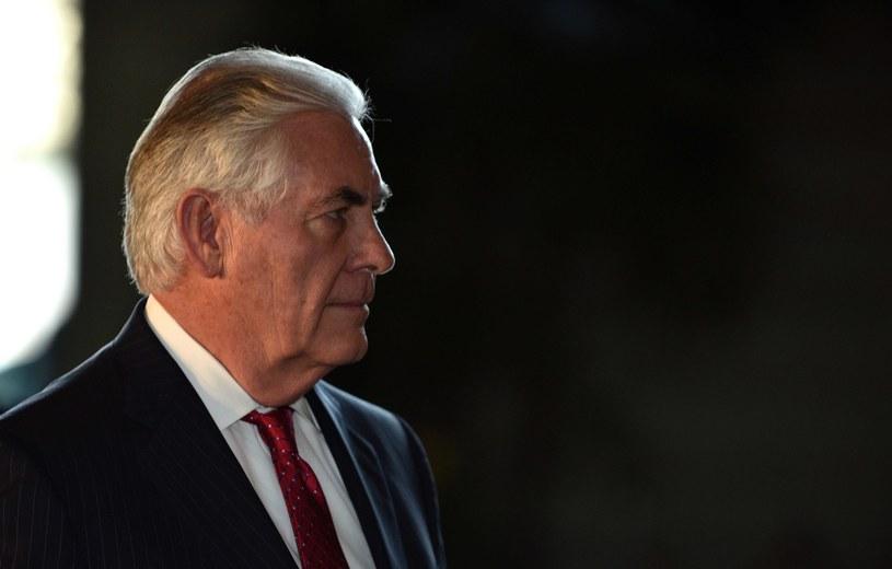 Szef dyplomacji USA Rex Tillerson /AFP