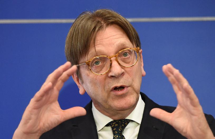 Szef europejskich liberałów Guy Verhofstadt. /EMMANUEL DUNAND /AFP
