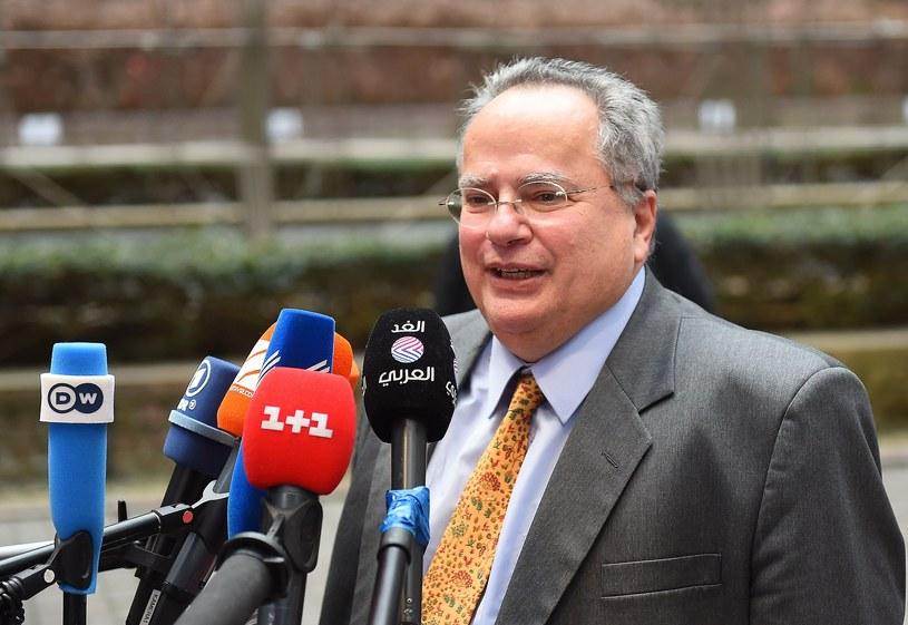Szef greckiej dyplomacji Nikos Kodzias /AFP
