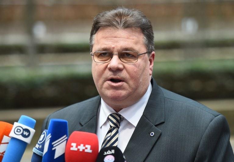 Szef litewskiego MSZ Linas Linkeviczius /AFP
