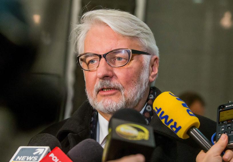 Szef MSZ Witold Waszczykowski w Brukseli /STEPHANIE LECOCQ  /PAP/EPA
