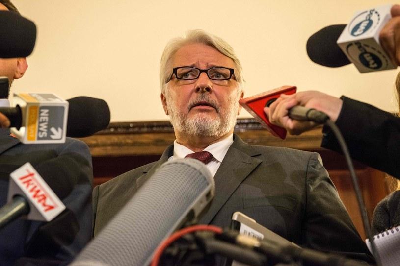 Szef MSZ Witold Waszczykowski /AFP
