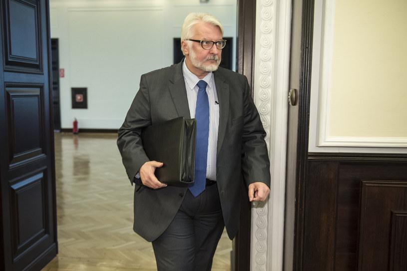 Szef MSZ Witold Waszczykowski /Jacek Domiński /Reporter