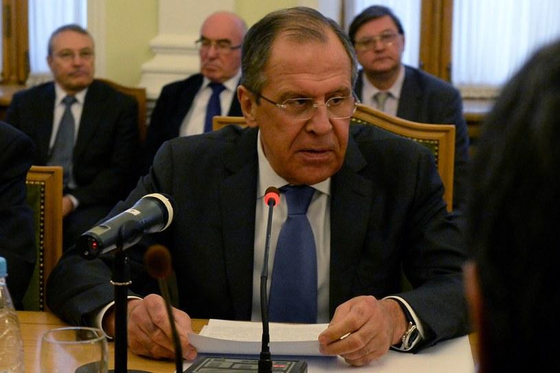 Szef rosyjskiego MSZ Siergiej Ławrow /AFP