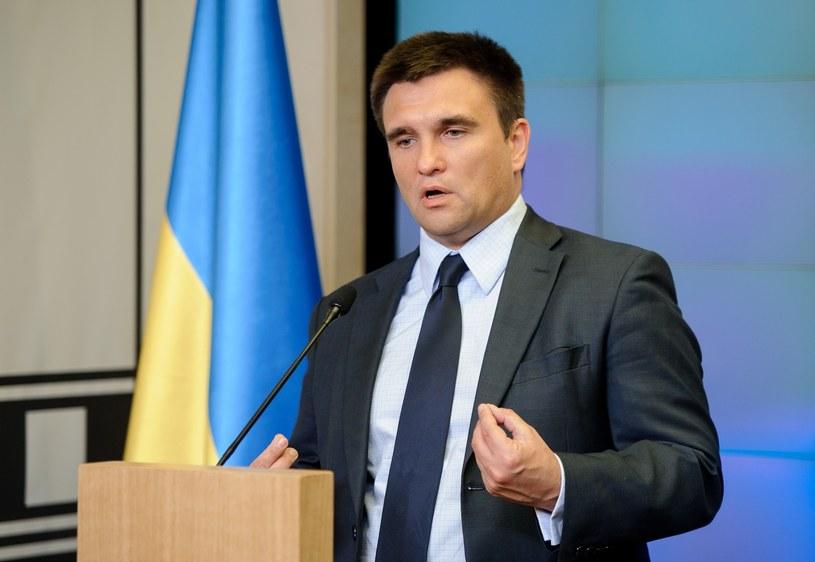 Szef ukraińskiej dyplomacji Pawło Klimkin /Rafal Oleksiewicz /Reporter