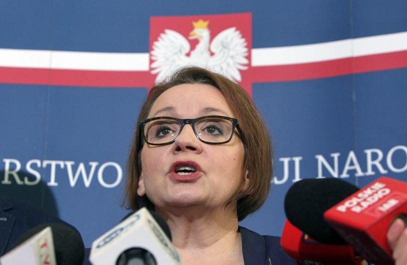 Szefowa MEN Anna Zalewska /STANISLAW KOWALCZUK/ /Reporter