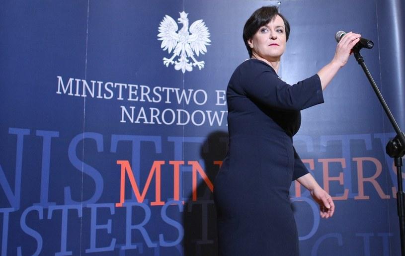 Szefowa MEN Joanna Kluzik-Rostkowska /Michał Dyjuk /Reporter