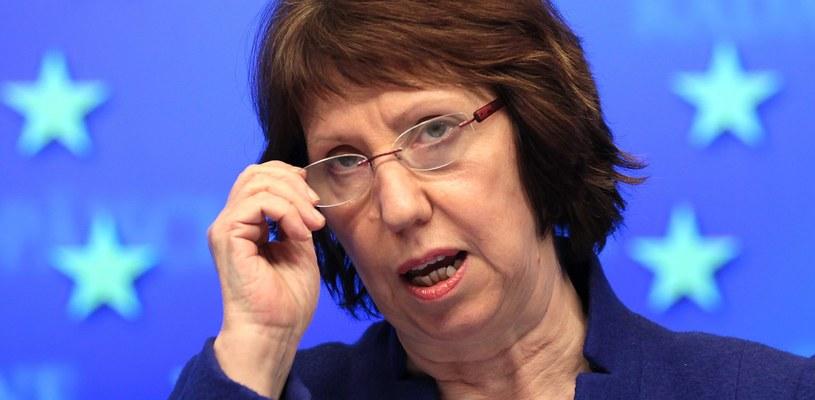 Szefowa unijnej dyplomacji Catherine Ashton /OLIVIER HOSLET /PAP/EPA