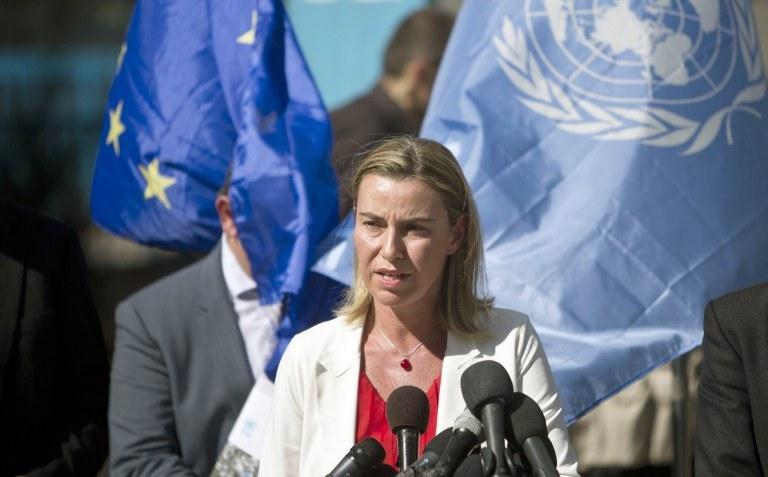 Szefowa unijnej dyplomacji Federica Mogherini /AFP